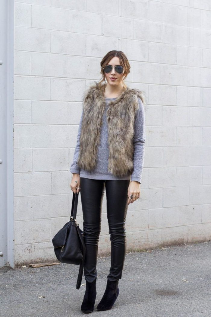 2018 Fur Waistcoats For Women Simple Looks To Try (18)