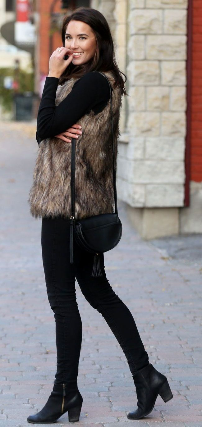 2018 Fur Waistcoats For Women Simple Looks To Try (2)