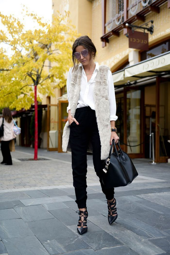 2018 Fur Waistcoats For Women Simple Looks To Try (5)