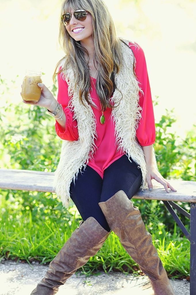 2018 Fur Waistcoats For Women Simple Looks To Try (6)