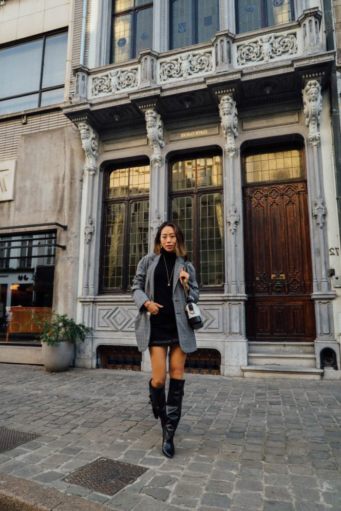 2018 Mini Skirts And Turtlenecks Outfit Ideas (1)