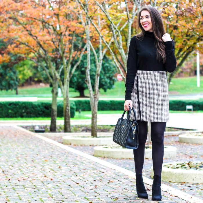 2018 Mini Skirts And Turtlenecks Outfit Ideas (15)