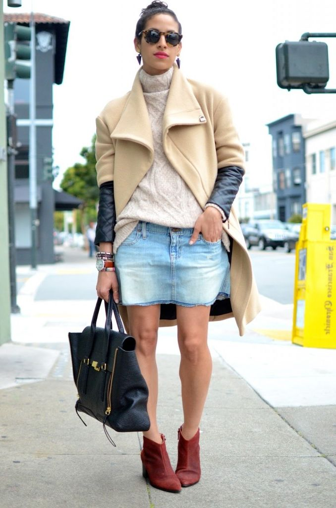 2018 Mini Skirts And Turtlenecks Outfit Ideas (28)