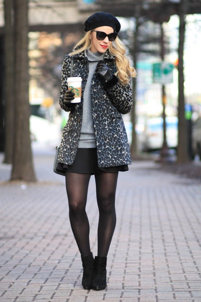 2018 Mini Skirts And Turtlenecks Outfit Ideas (29)