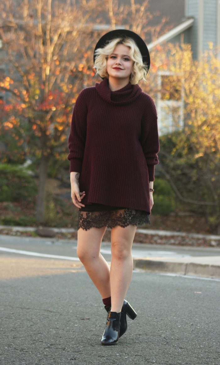 2018 Mini Skirts And Turtlenecks Outfit Ideas (32)