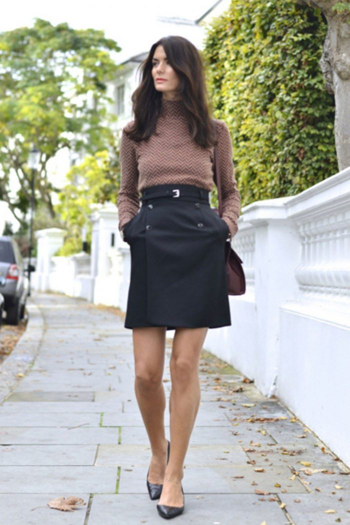 2018 Mini Skirts And Turtlenecks Outfit Ideas (4)