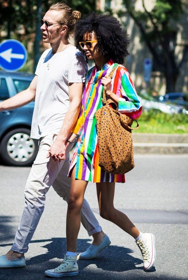 Rainbow Stripes Print For Women 2020