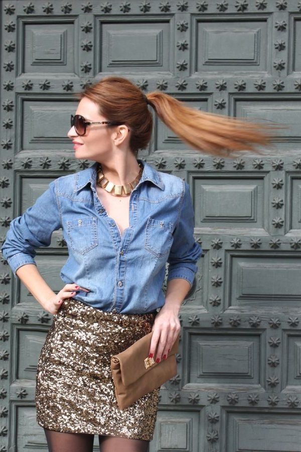 2018 Dress Up Denim Outfit Ideas For Women Street Style (27)