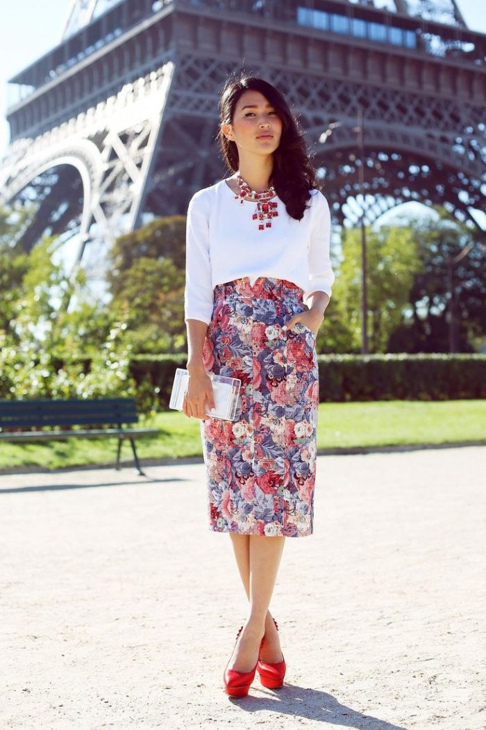 2018 High Waist Skirts For Women Street Style Looks (22)