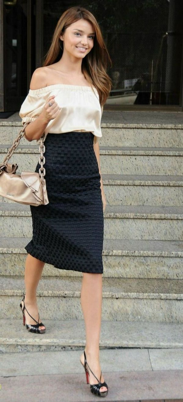 2018 High Waist Skirts For Women Street Style Looks (30)