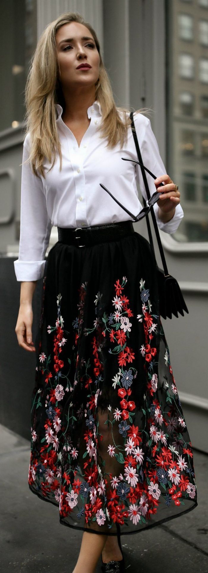2018 High Waist Skirts For Women Street Style Looks (34)