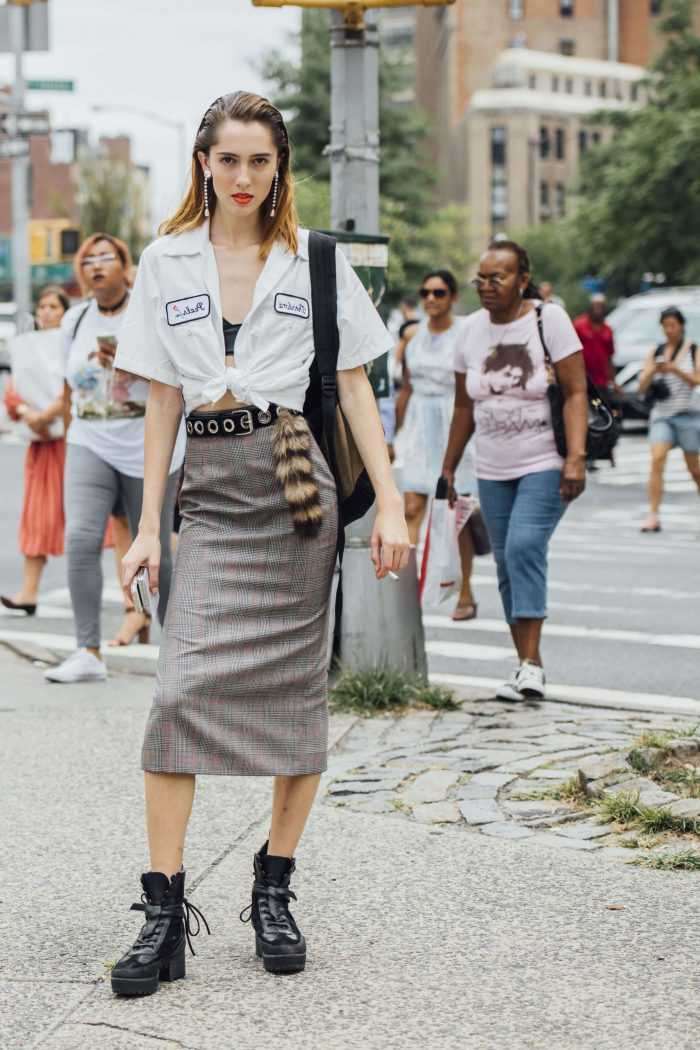 2018 High Waist Skirts For Women Street Style Looks (37)