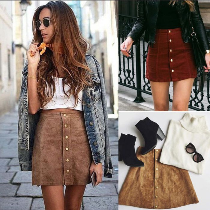 2018 High Waist Skirts For Women Street Style Looks (6)