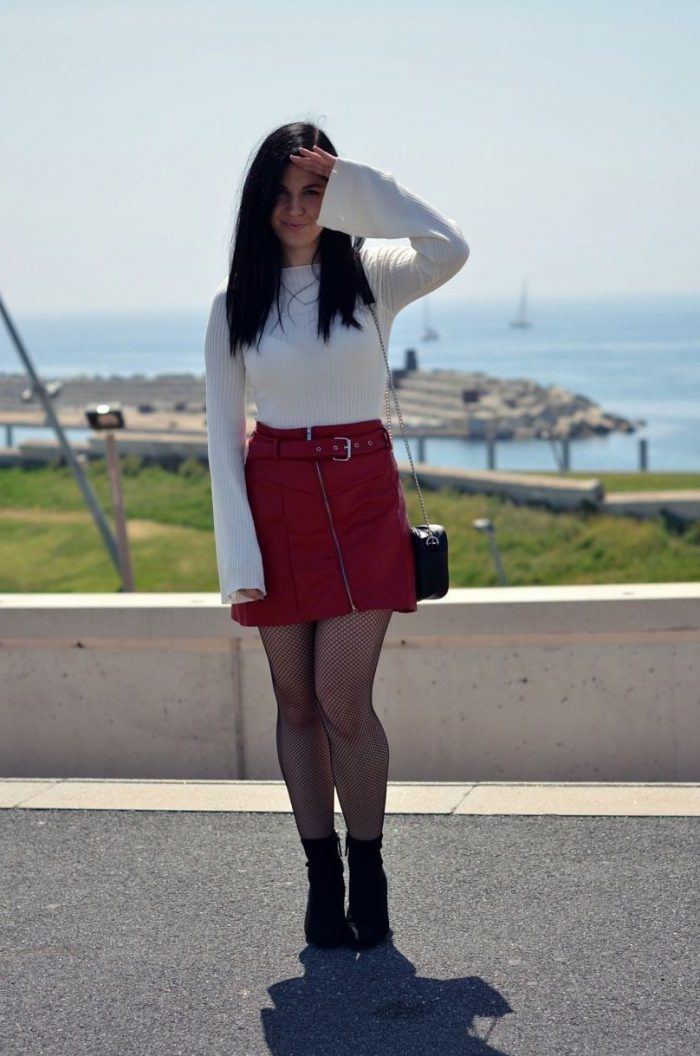 2018 High Waist Skirts For Women Street Style Looks (8)