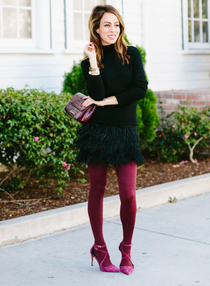 2018 How To Wear Tights For Women (35)