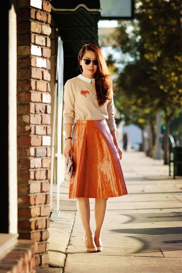 Best Ways To Wear Patent Skirts 2019