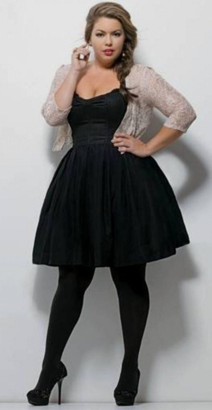 Size Plus black dress outfit pictures