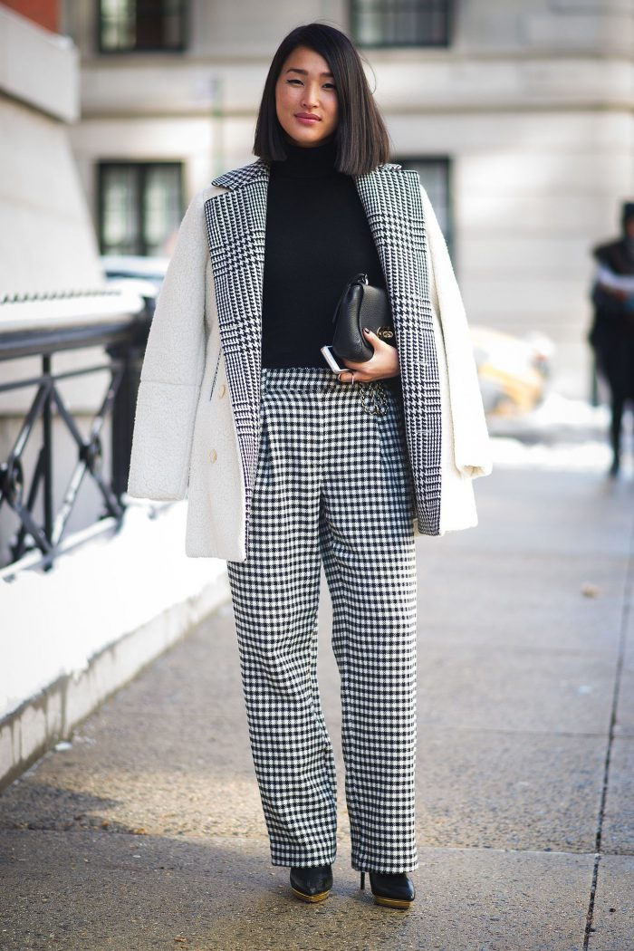 How To Wear Houndstooth Print In Winter 2019