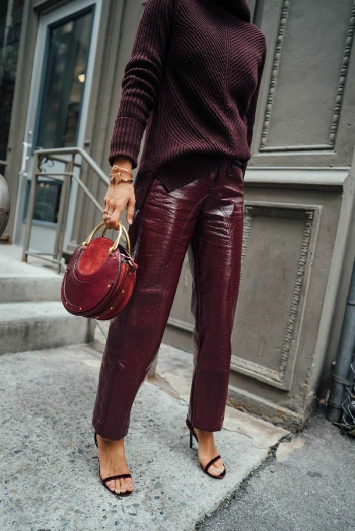 36 Must-Try Colored Leather Looks For Women 2020
