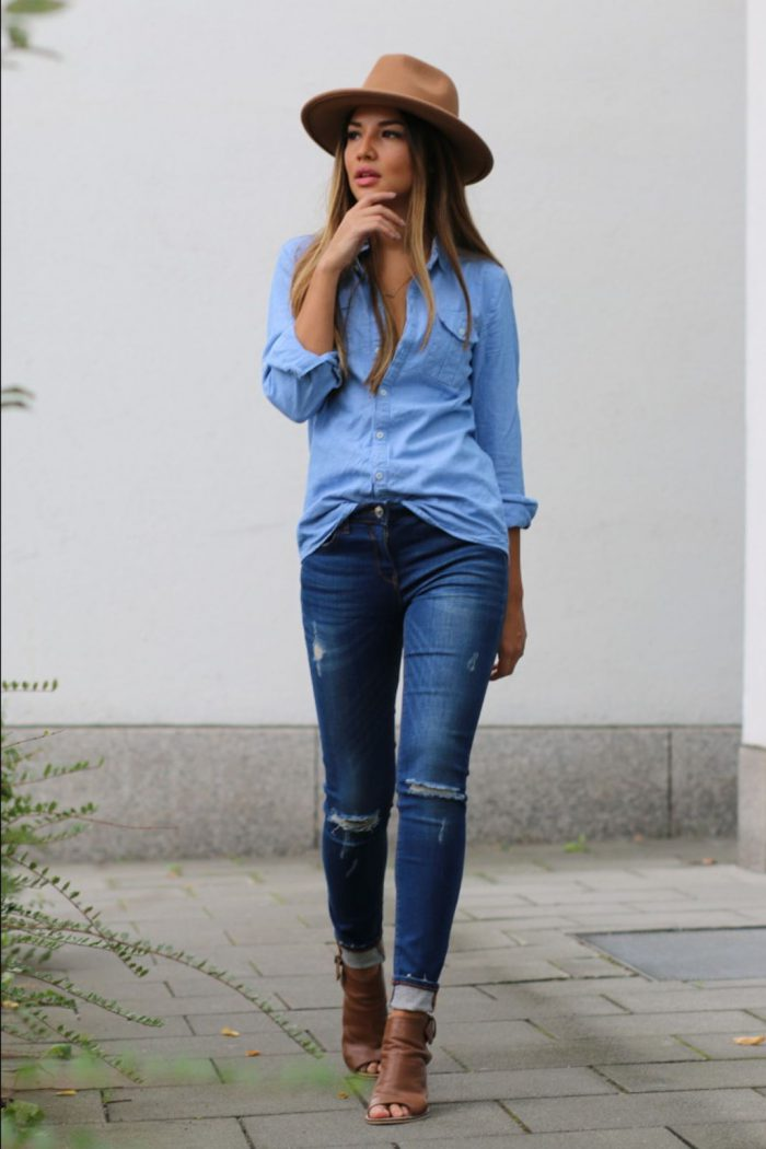 35 Ways to Wear Denim on Denim Trend 2020