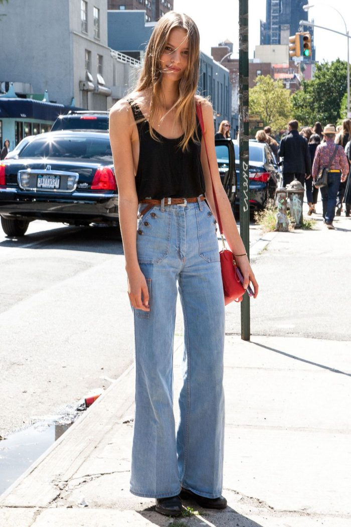 How To Wear High-Waisted Jeans And Trousers 2020