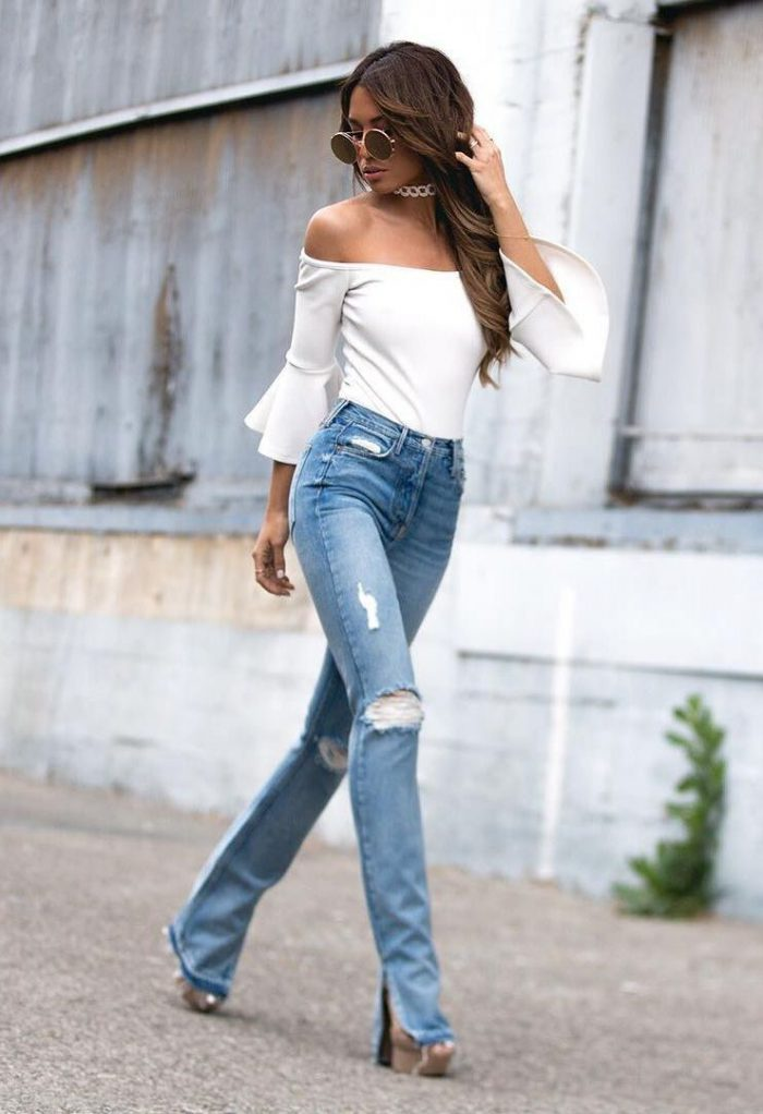 6197d3c7 How To Wear High-Waisted Jeans And Trousers 2019 ...