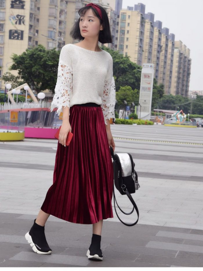 2018 Midi Skirts For Women Best Looks To Copy (11)
