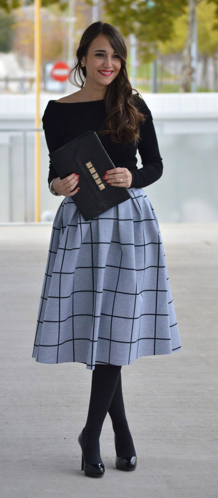 2018 Midi Skirts For Women Best Looks To Copy (12)