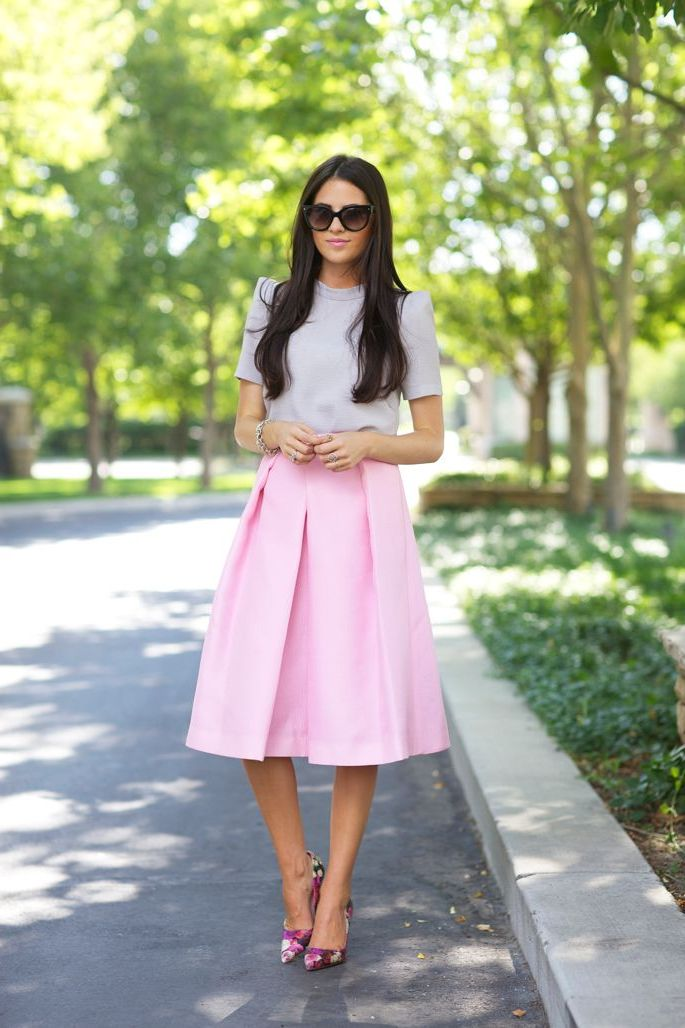 2018 Midi Skirts For Women Best Looks To Copy (24)