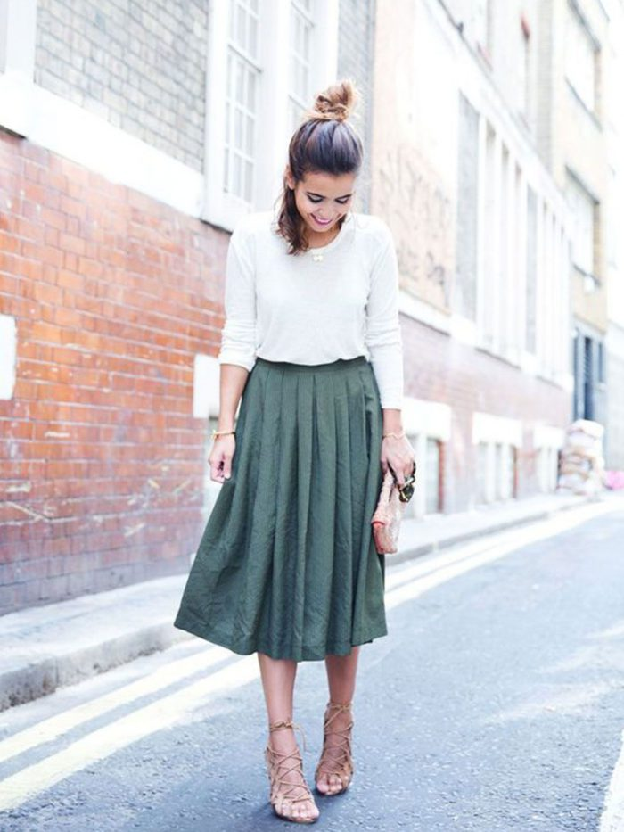 2018 Midi Skirts For Women Best Looks To Copy (8)