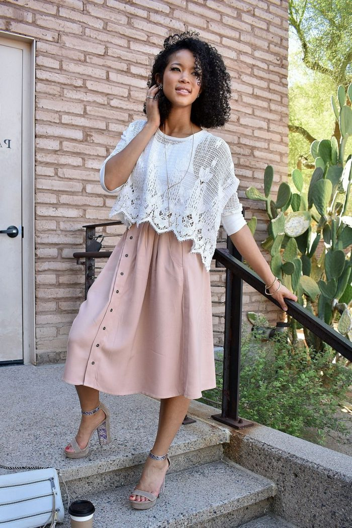 2018 Midi Skirts For Women Street Style Ideas (26)