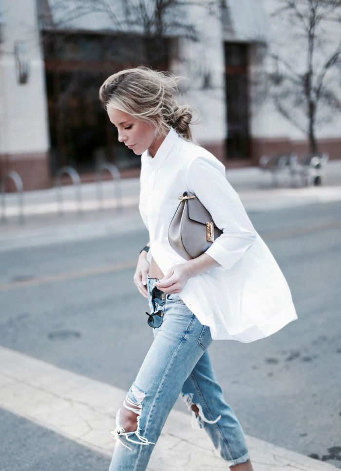 43 Ways To Wear Plain White Shirts This Summer 2020