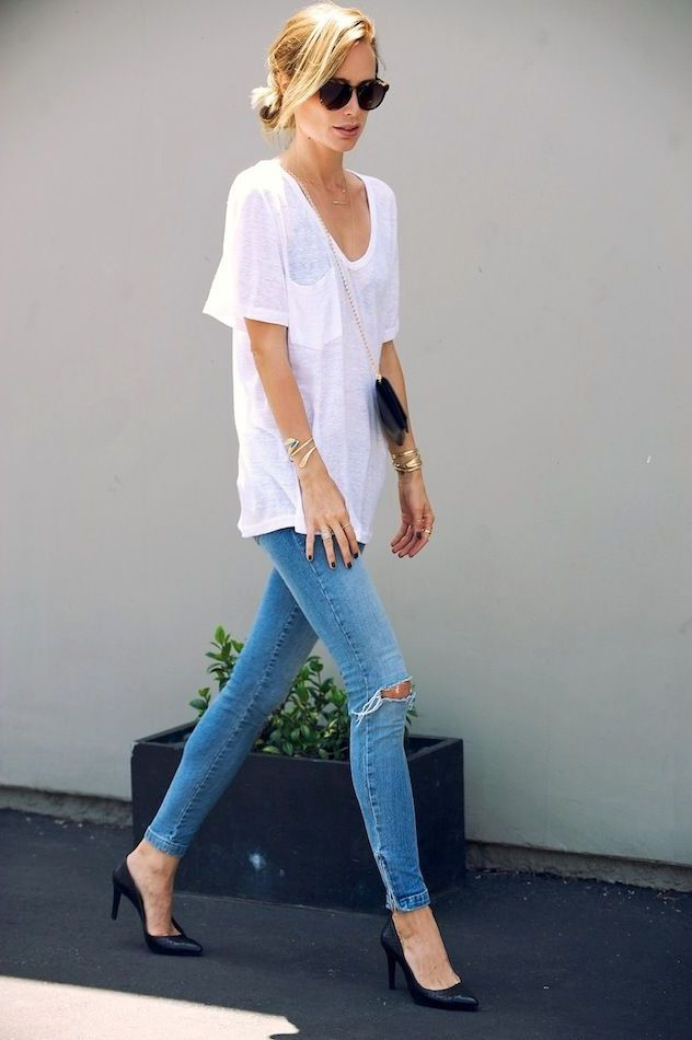 43 Ways To Wear Plain White Shirts This Summer 2019