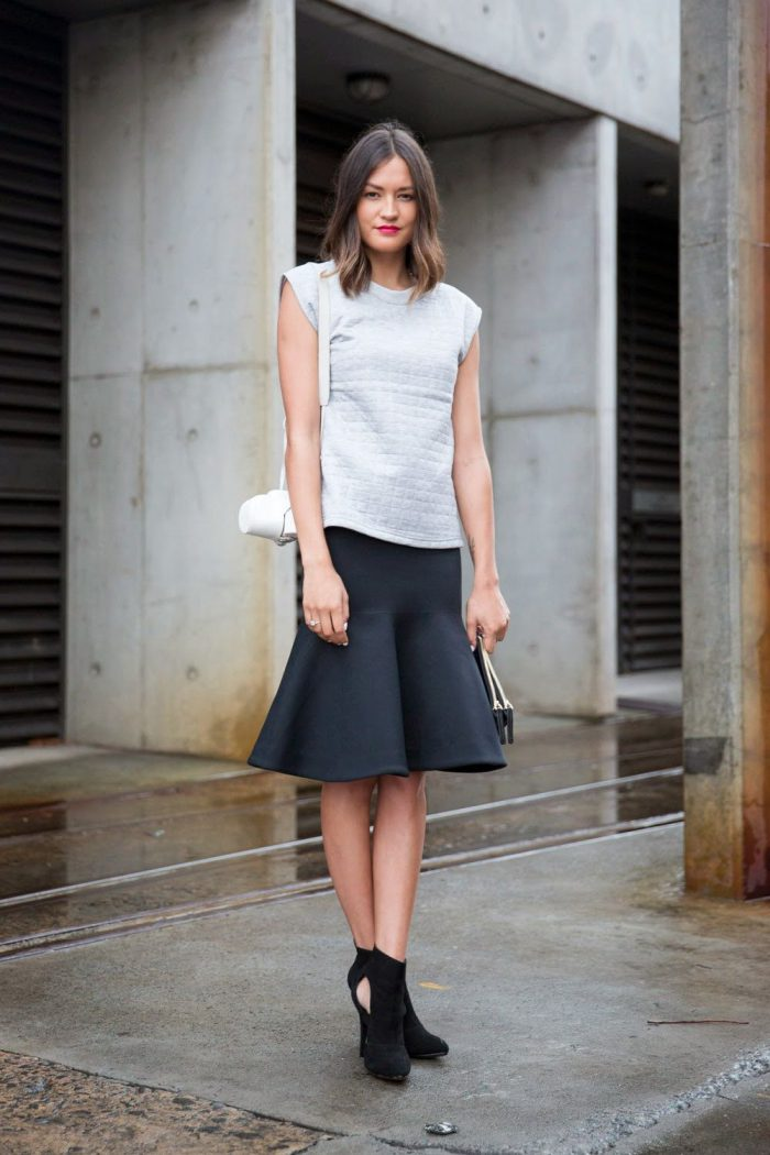 Flared Skirts Street Style Looks To Copy (1)