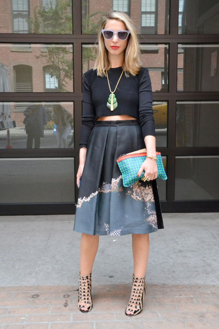 Flared Skirts Street Style Looks To Copy (10)