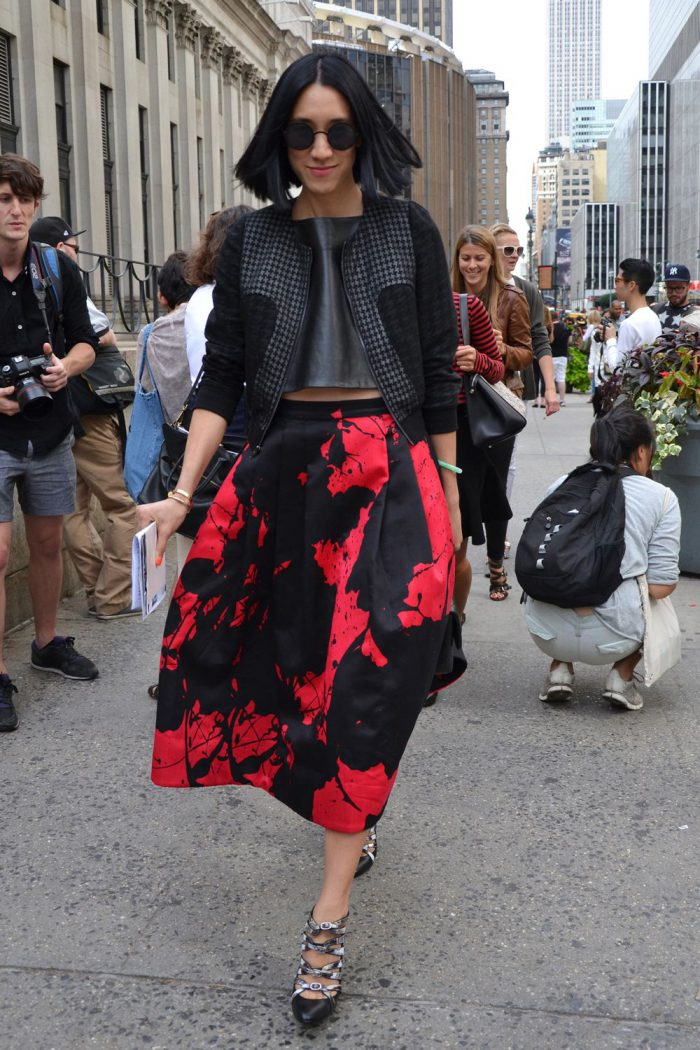 Flared Skirts Street Style Looks To Copy (11)