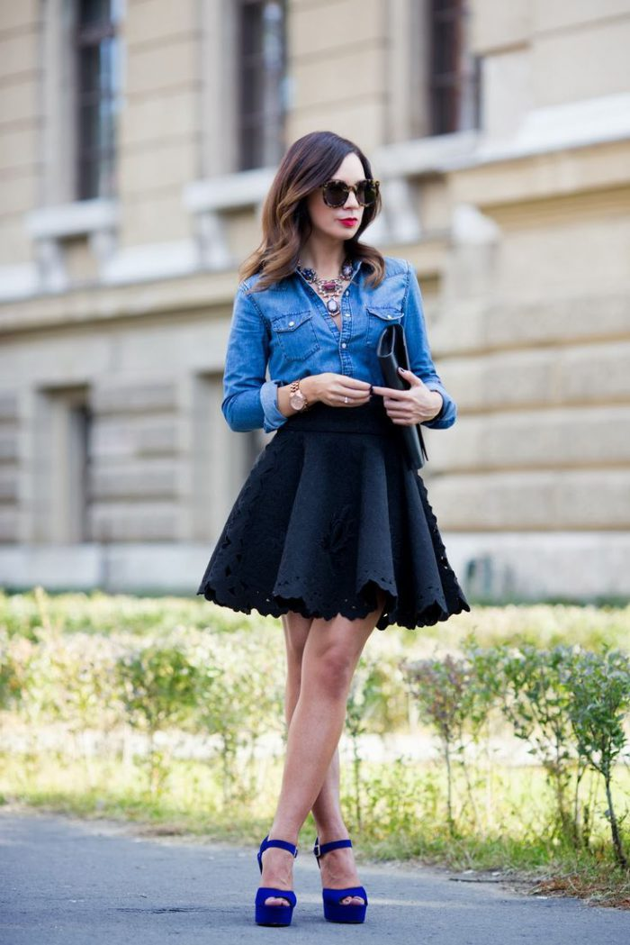 Flared Skirts Street Style Looks To Copy (4)