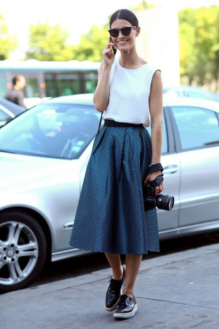 Flared Skirts Street Style Looks To Copy (5)