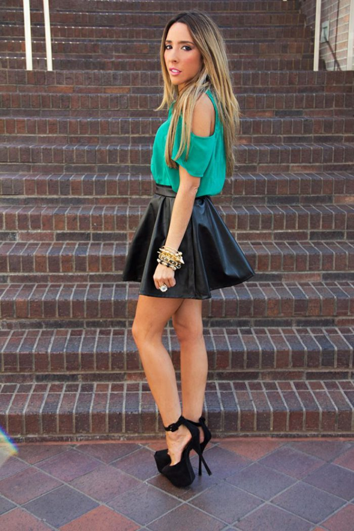 Flared Skirts Street Style Looks To Copy (6)