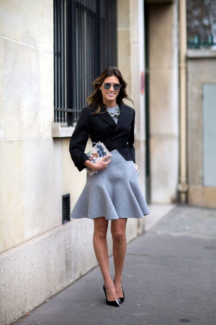 Flared Skirts Street Style Looks To Copy (8)