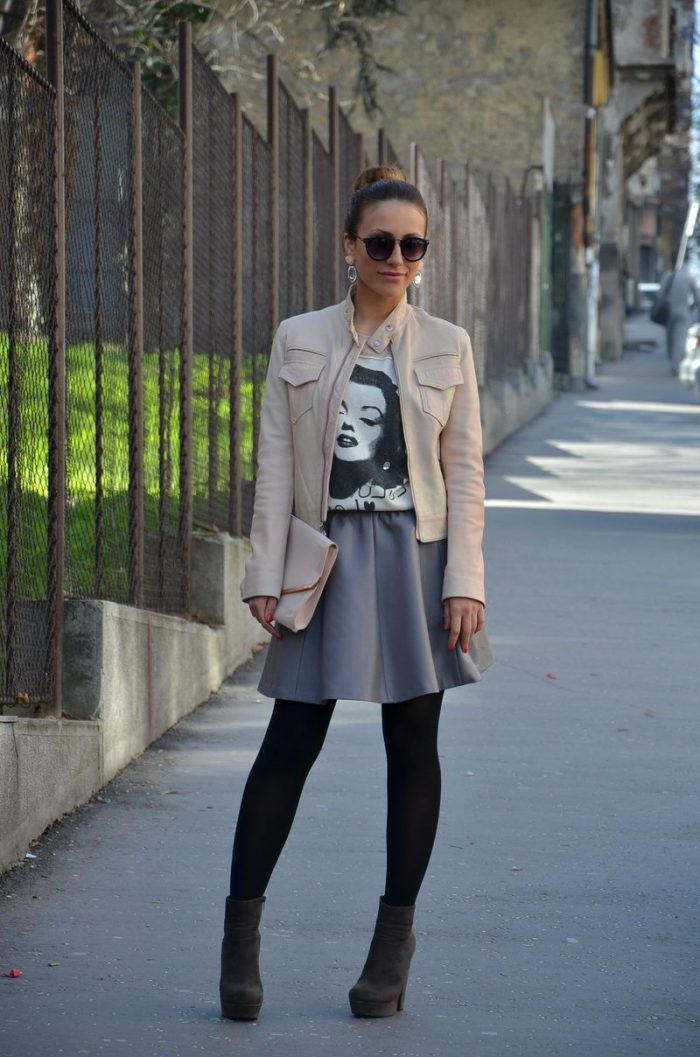 Flared Skirts Street Style Looks To Copy (9)