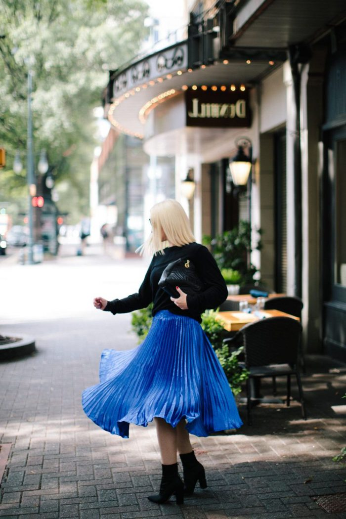 How To Wear Blue Skirts Outfit Ideas (1)