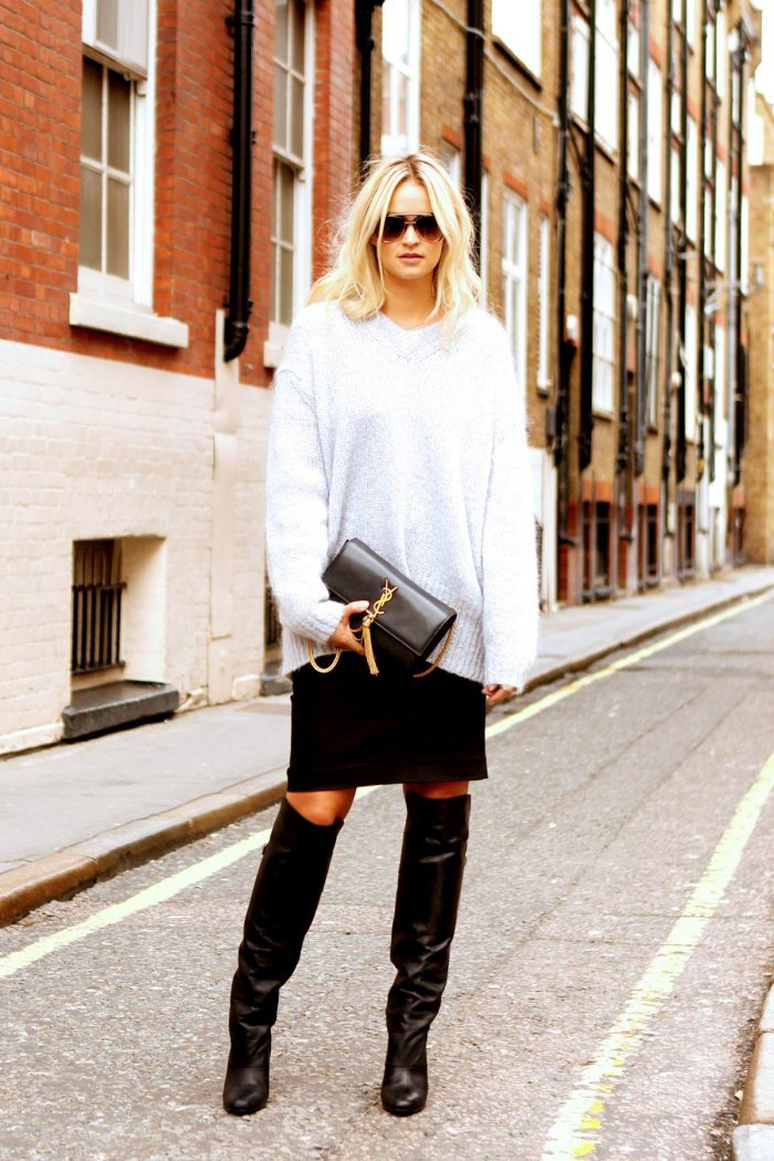 How To Wear Knee High Boots Best Outfit Ideas (2)