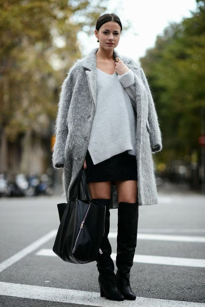How To Wear Knee High Boots Best Outfit Ideas (4)