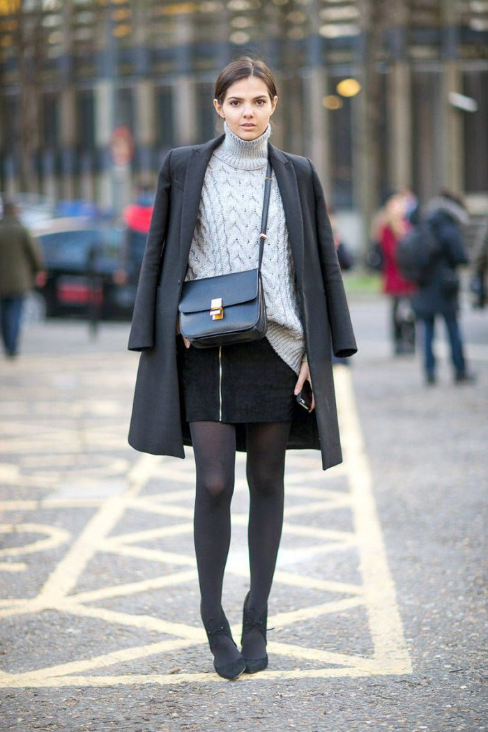 How To Wear Tights This Year Street Style (3)