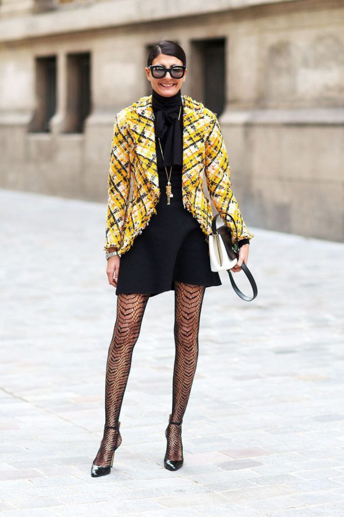 How To Wear Tights This Year Street Style (4)