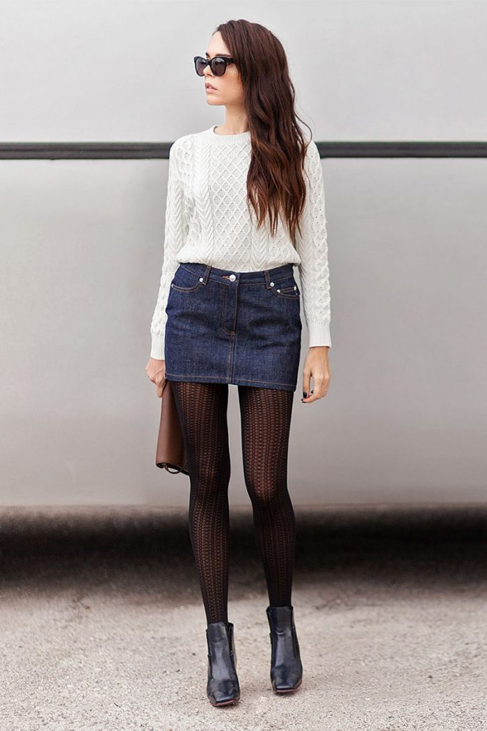 How To Wear Tights This Year Street Style (9)
