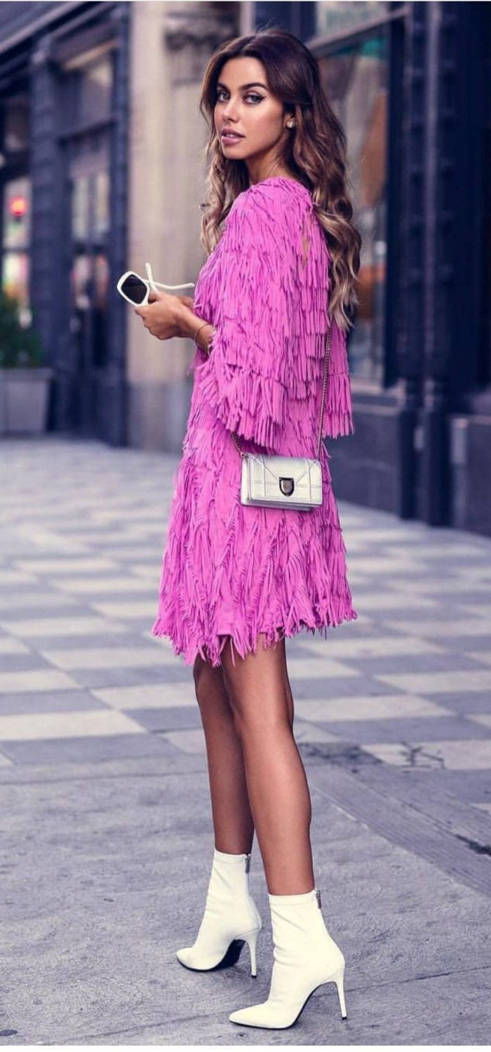 Pink Dresses And Shoes Outfit Ideas (1)