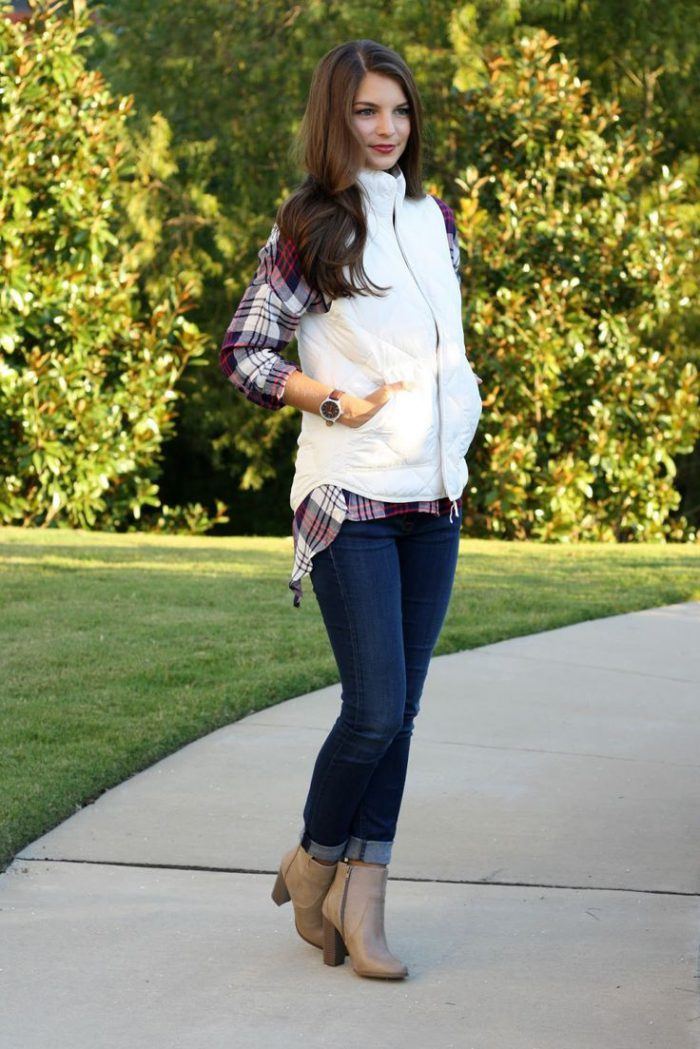 Plaid Shirts For Women Simple Street Style Looks (10)