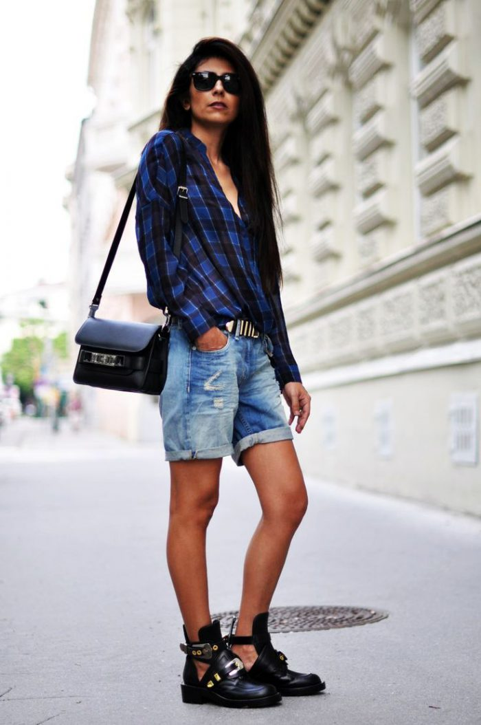 Plaid Shirts For Women Simple Street Style Looks (2)